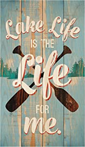 P. Graham Dunn Lake Life is The Life Distressed 24 x 14 Wood Pallet Wall Art Sign Plaque
