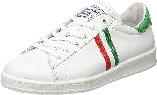El Ganso Low Top Blanca Bandera Italia - Zapatillas, Unisex, Color Blanco, Talla 42: Amazon.es: Zapatos y complementos