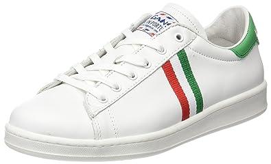 El Ganso Low Top Blanca Bandera Italia - Zapatilla Baja Unisex Adulto: Amazon.es: Zapatos y complementos