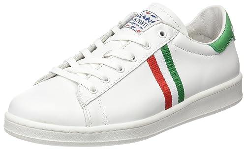Bandera Low El Zapatilla Italia Unisex Blanca Ganso Baja Top ED2IH9