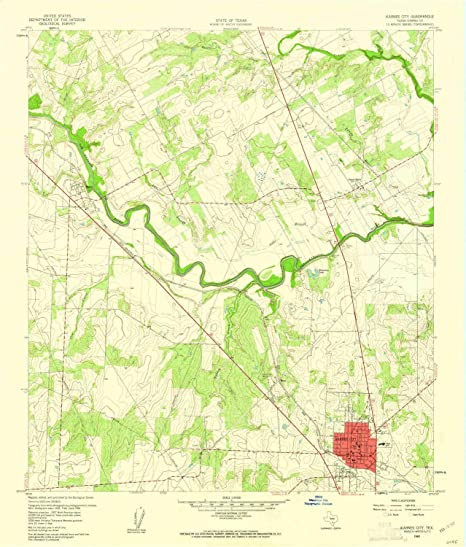 Amazon.com : YellowMaps Karnes City TX topo map, 1:24000 ... on map of dimmit county texas, cities in karnes county texas, political map of texas,