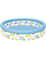 Bestway BW51009 48 x 10 Inch Ocean Life Kids Paddling Pool, Multi-Coloured