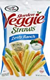 Sensible Portions Garden Veggie Straws, Zesty Ranch, 5 oz. (Pack of 12)