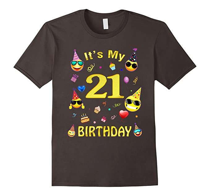 Mens Its My 21 Birthday Shirt Years Old 21st Gift 2XL Asphalt