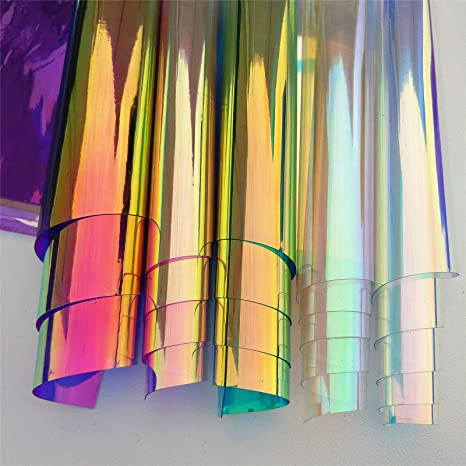 Plastic Transparent Clear Colorful Sheet Plate Plastic Film DIY Craft Toy Gift D