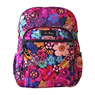 Vera Bradley Lighten Up Campus Backpack Floral Fiesta