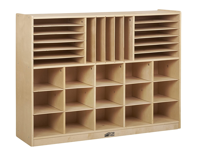 Amazon.com: ECR4Kids Birch Multi Section Storage Cabinet With 15 Scoop  Front Bins, Sand: Industrial U0026 Scientific