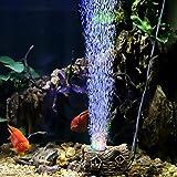 hygger Aquarium Air Stone, Aquarium Light, Fish Tank LED Bubble Light, Aquarium Air Bubbler Decorations Ornament