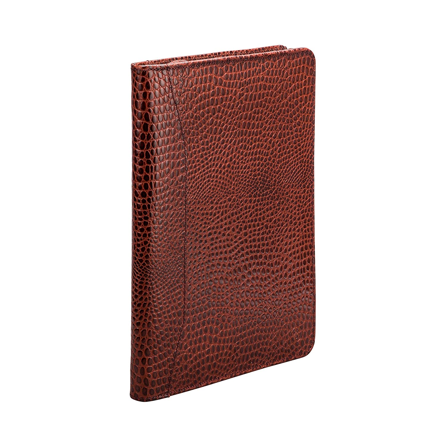 2a653cd6cd Maxwell-Scott® Luxury Zipped Mock Croc Handmade Italian Full Grain Leather  Conference Folder (The Dimaro Croco)  Amazon.co.uk  Clothing
