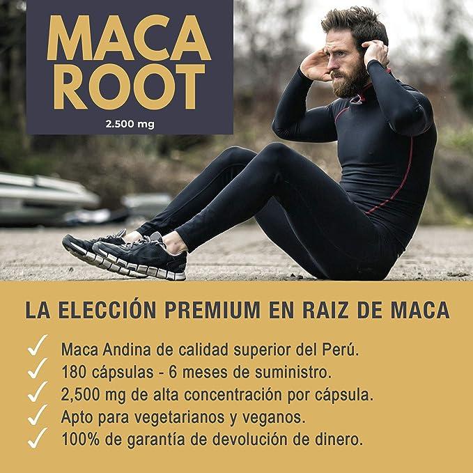 Maca Andina | 2500 Mg - 180 Pastillas, Suministro Para 6 Meses | Promueve La Fertilidad y La Salud Reproductiva, Apoya El Equilibrio del Estado de Ánimo y ...
