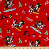 springs creative products disney christmas mickey friends home for the holidays fabric by the yard - Disney Christmas Fabric