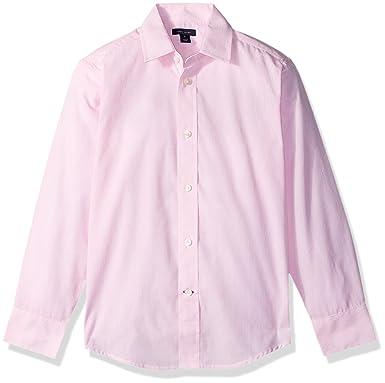 d9c2129d Amazon.com: Tommy Hilfiger Boys' Big Long Sleeve Cross Gingham Dress Shirt:  Clothing
