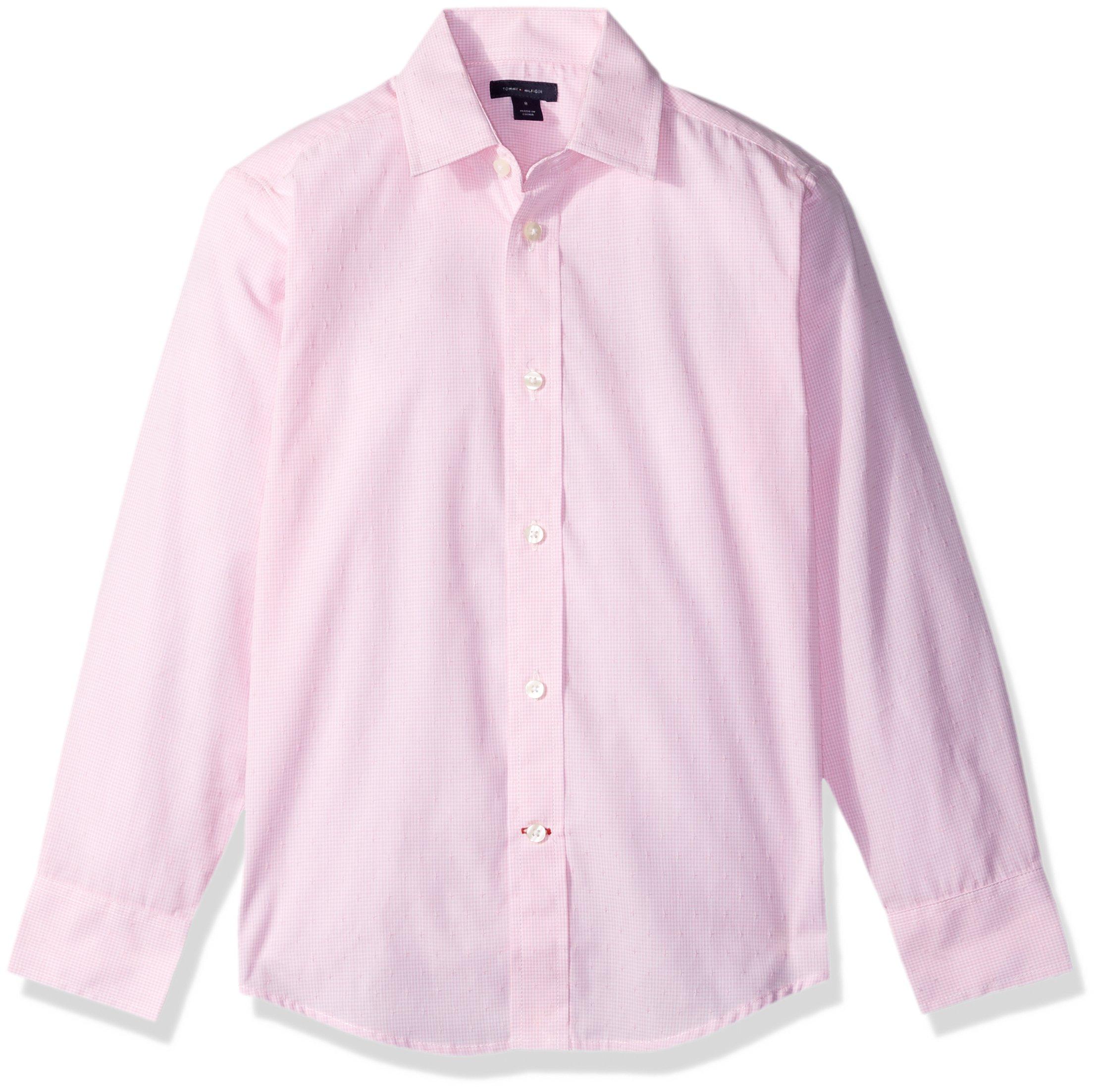 Tommy Hilfiger Boys' Cross Gingham Shirt, Light Pink, 16 by Tommy Hilfiger (Image #2)