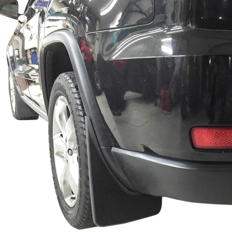2011 - 2017 Jeep Grand Cherokee Mud Flaps Guardabarros Splash Moldeado delantero trasero 4 piezas: Amazon.es: Coche y moto
