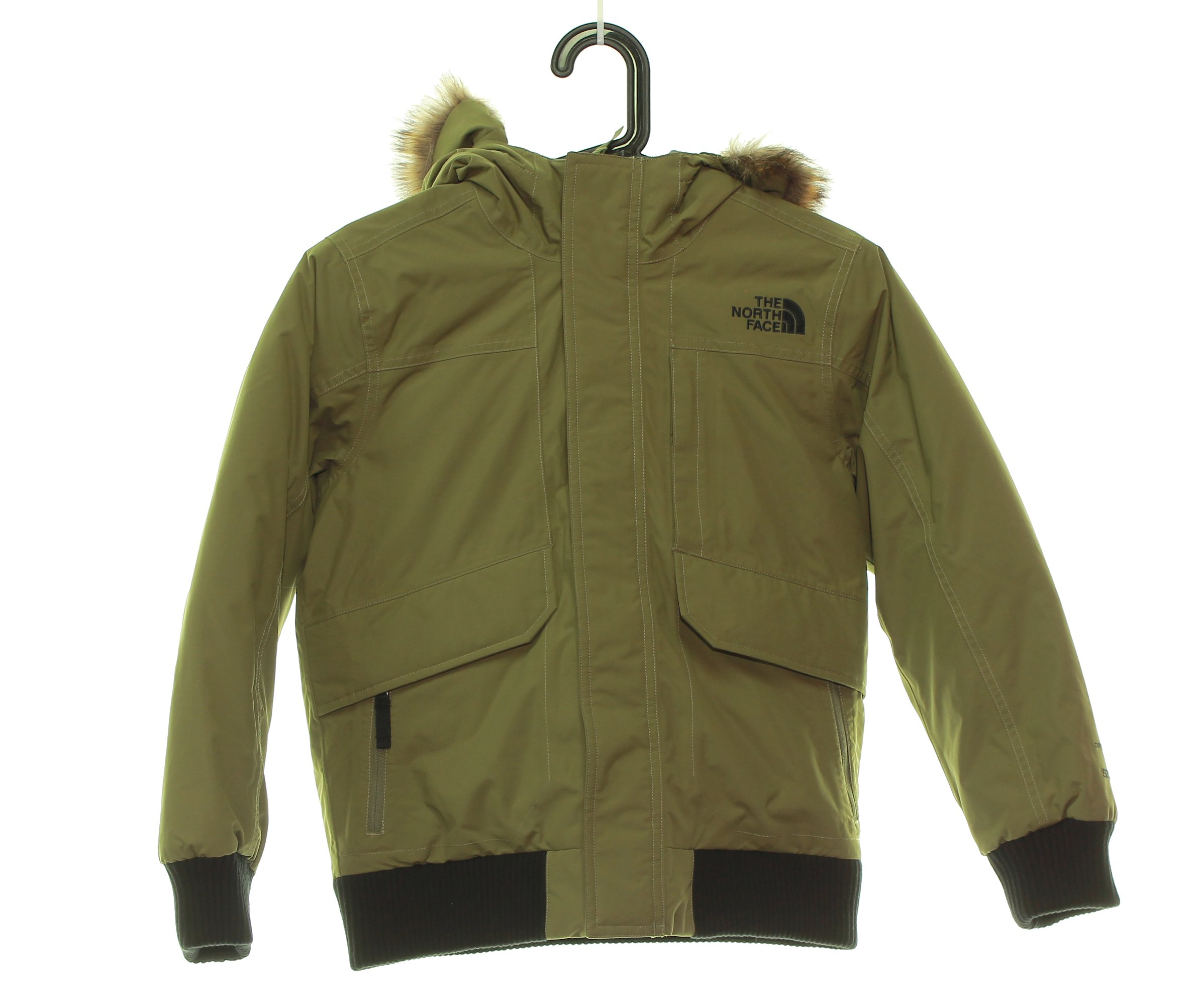 Boy's The North Face Gotham Down Jacket 10/12 Burnt Olive Green, Medium by No Warranty The North Face