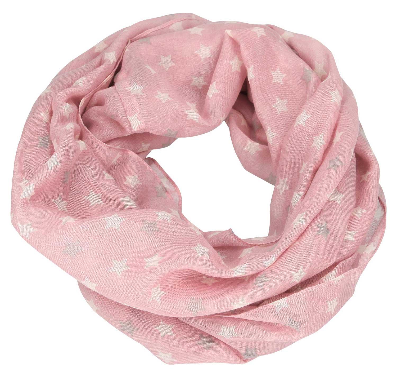 Depesche 6389Loop Bufanda TOPModel, Color Rosa con Estrellas