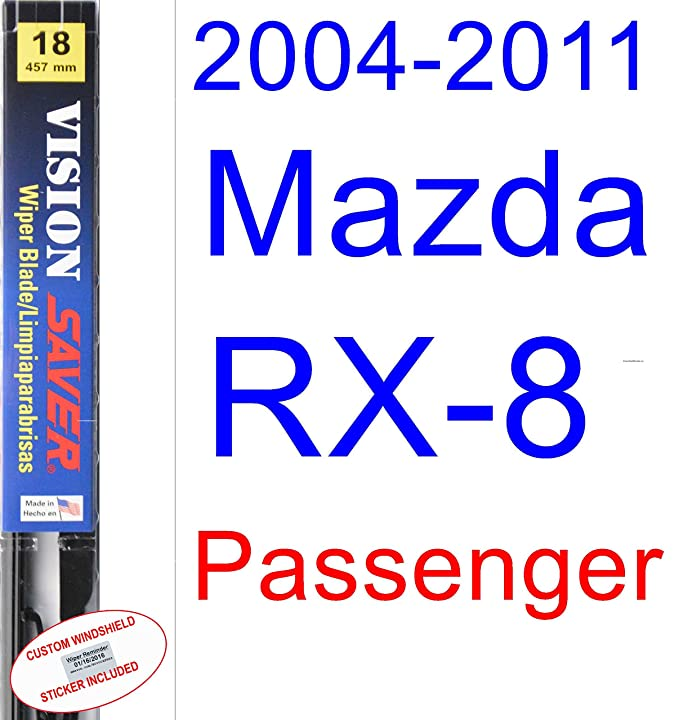 Amazon.com: 2004-2011 Mazda RX-8 Wiper Blade (Driver) (Saver Automotive Products-Vision Saver) (2005,2006,2007,2008,2009,2010): Automotive
