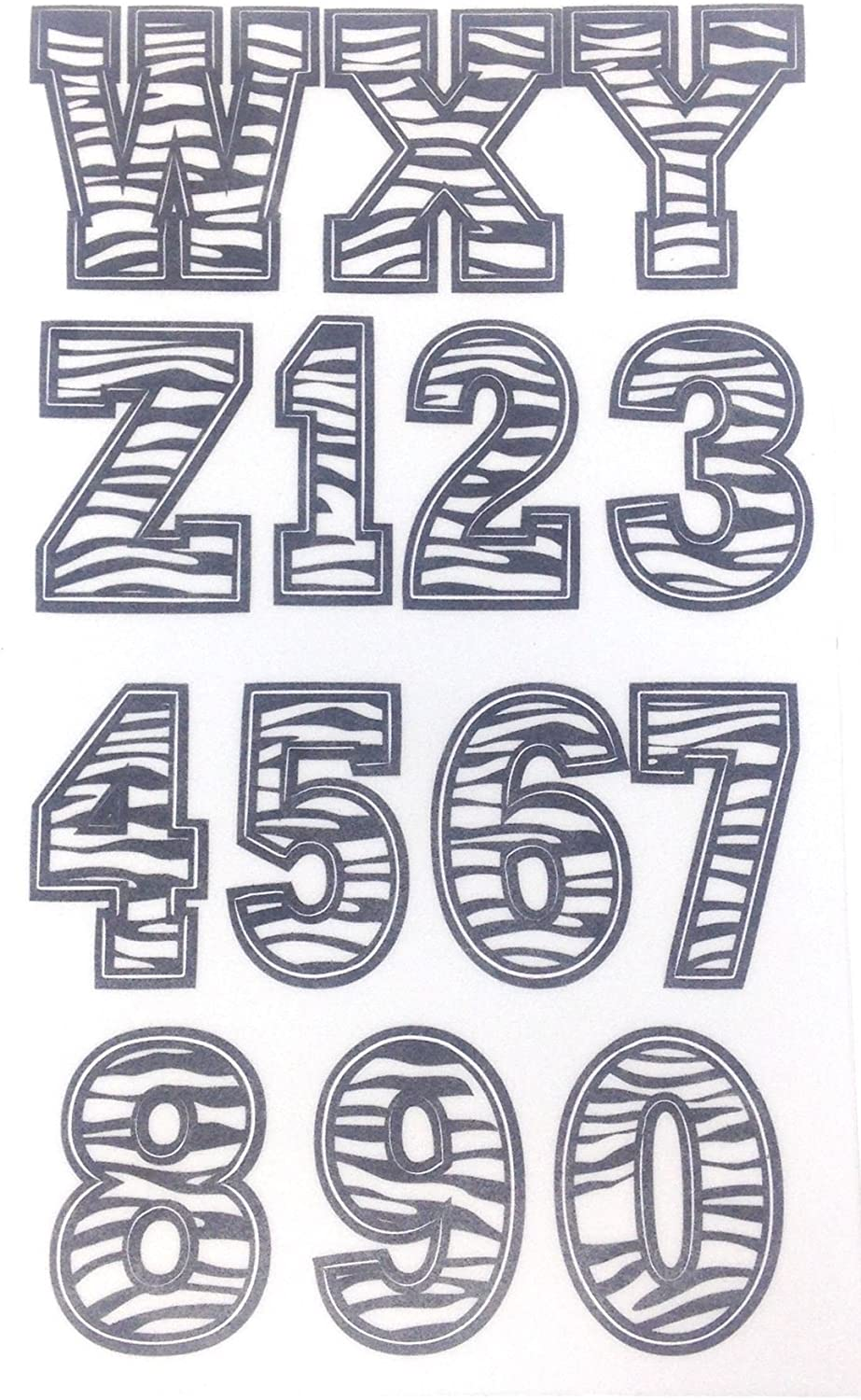 Flocked Zebra Bold 43 Pack of Stick On Letters /& Numbers