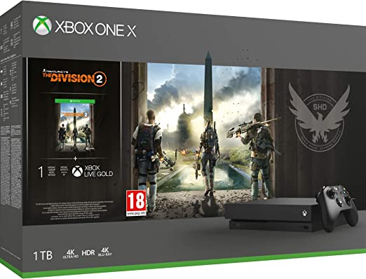 Microsoft Xbox One X - Consola 1 TB + División 2: Microsoft: Amazon.es: Videojuegos