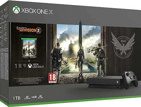 Microsoft Xbox One X - Consola 1 TB + División 2: Microsoft ...