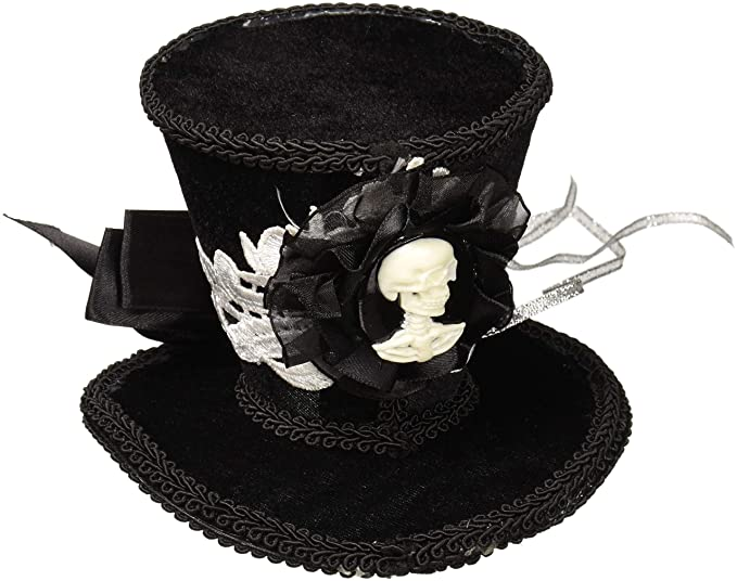 a70a80741b0 Amazon.com  Forum Novelties Women s Skeleton Mini Top Hat