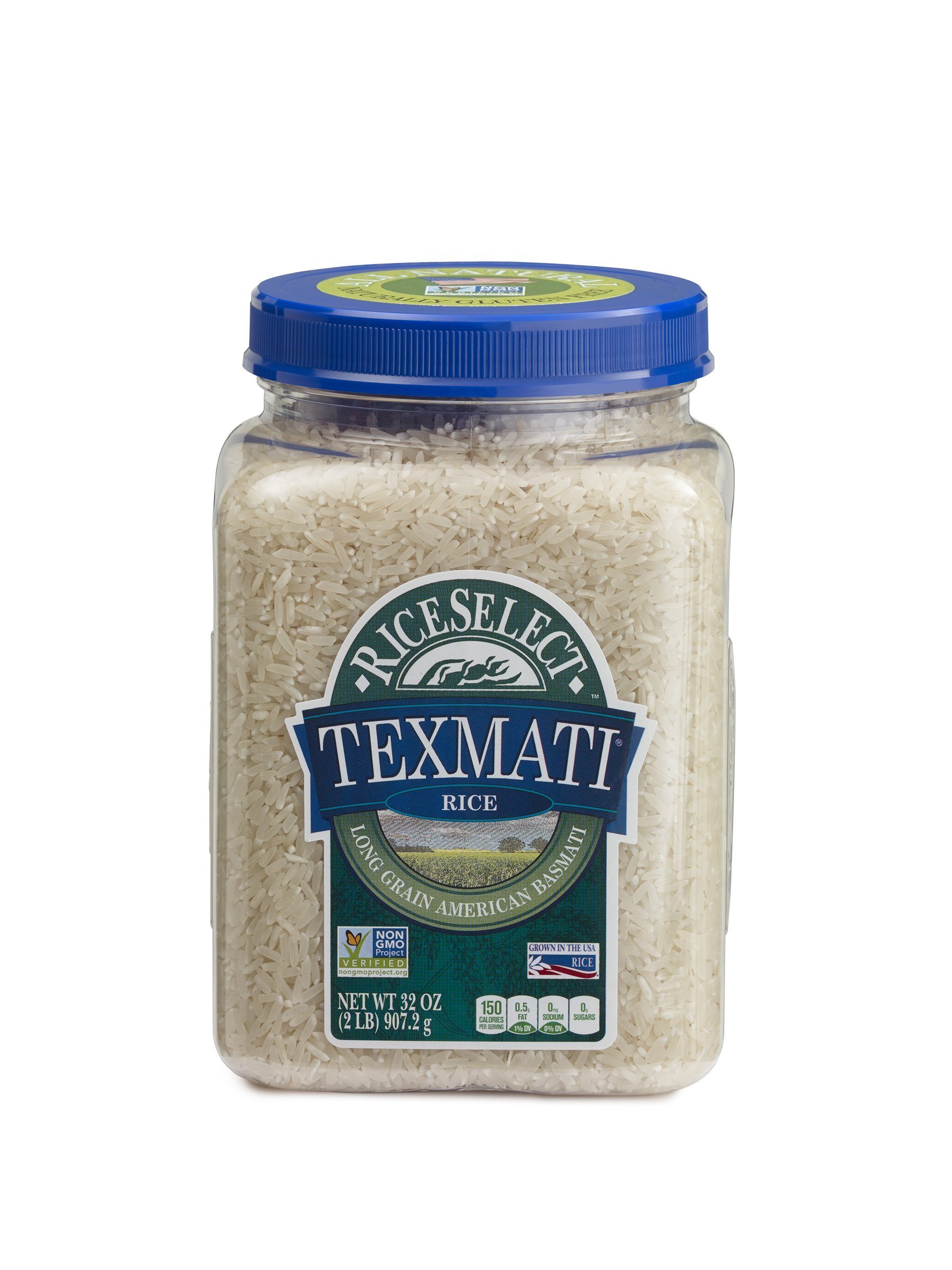 RiceSelect Texmati Rice, Basmati, White, 32-Ounce (Pack of 4)