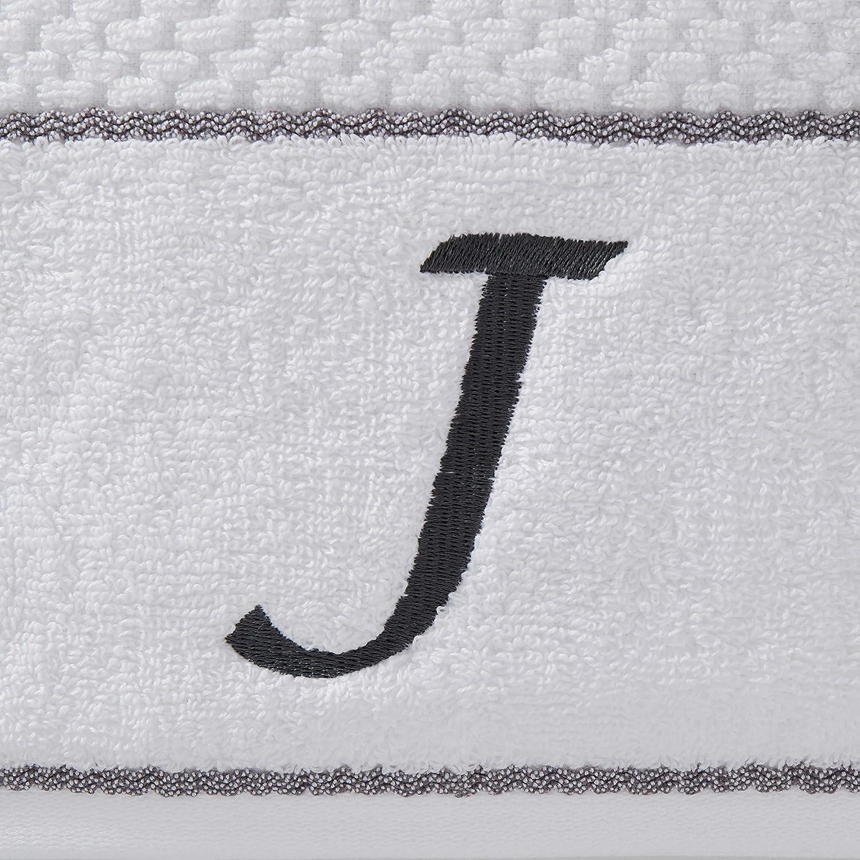 4-Pack SKL Home by Saturday Knight Ltd Monogram B Bath and Hand Towel Set White