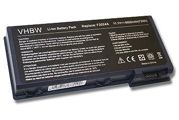 Batería Li-Ion vhbw 6600mAh (11.1V) Negra para Ordenador Portátil HP Pavilion XH575, XH575-F3930H, XH625, XH635, XH635-F5122H como F2024, F2111.