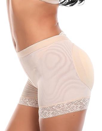 8353c2e3840e SLIMBELLE Women's Butt Lifter Padded Hip Enhancer Shaper Panties Boyshort  Seamless Tummy Control Underwear Thigh Slimmer