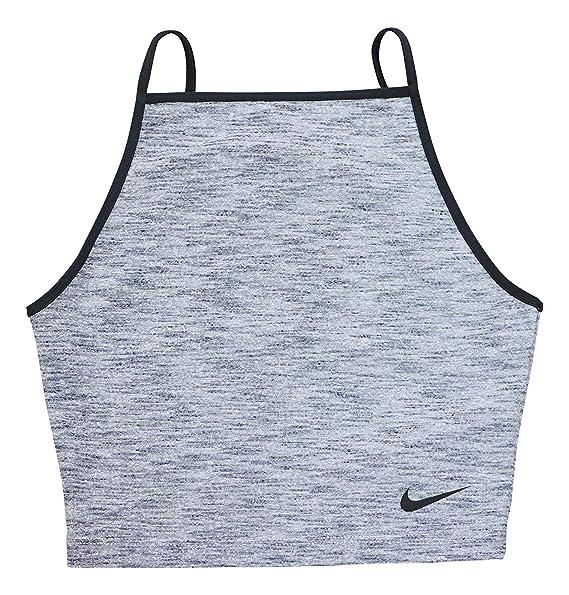 e1094de925f Amazon.com: Nike Womens Cropped Dri-Fit Tank Top Gray XL: Clothing