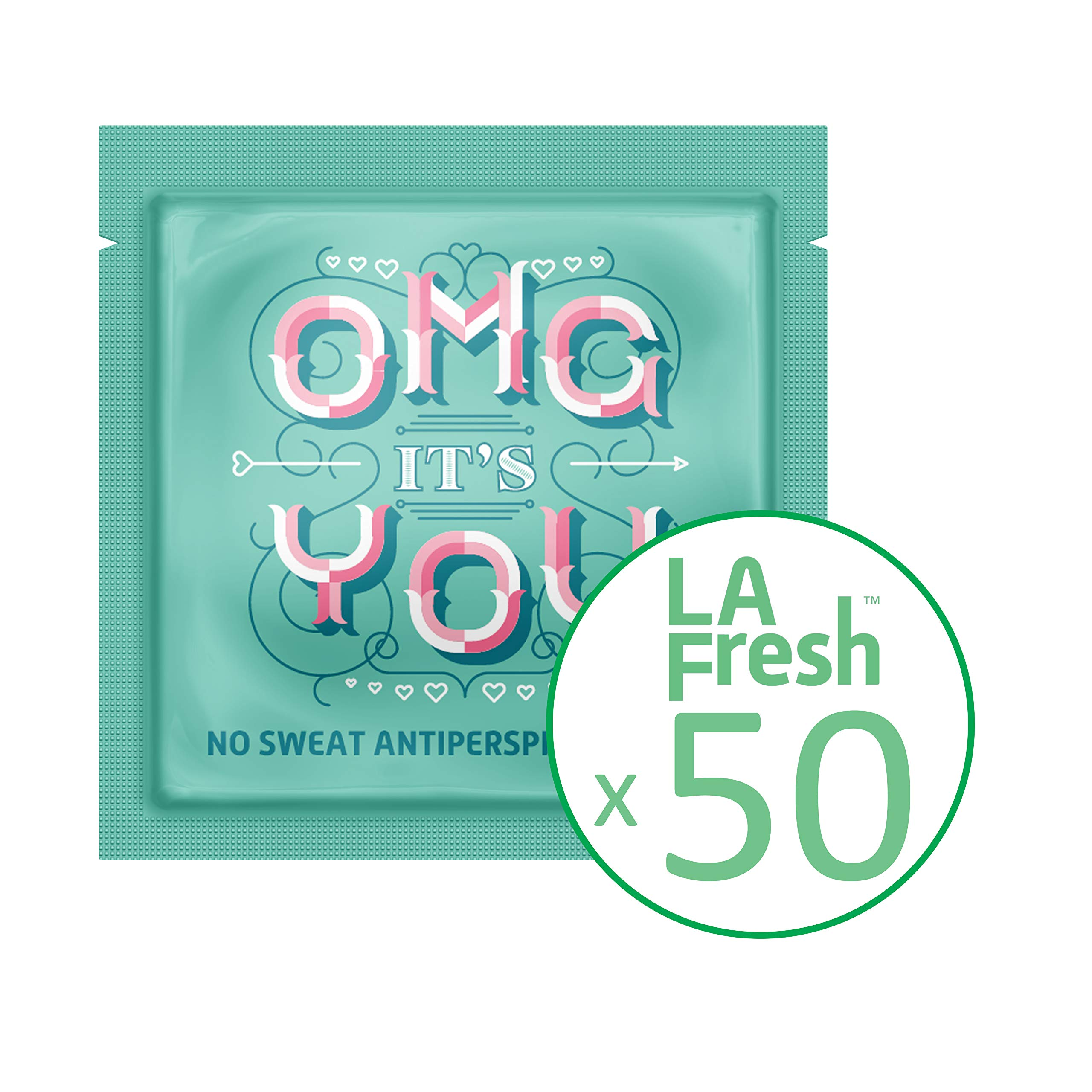 La Fresh Travel Lite Antiperspirant Wipes for Men and Women, Fresh Scent, 50 Count of Individually Sealed Packets by La Fresh