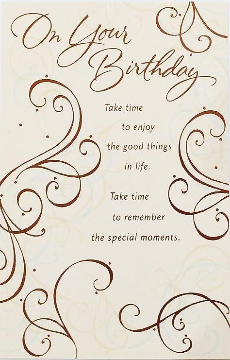 Amazon.com: En su tarjeta de felicitación de cumpleaños ...