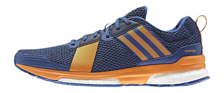 Adidas Revenge M, Zapatillas de Running para Hombre 45 1/3 EU|Azul / Naranja / Negro (Eqtazu / Eqtnar / Maruni)