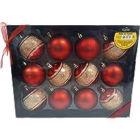 Kit de Bolas para arvore enfeite de Natal 12 Peças (vermelha)