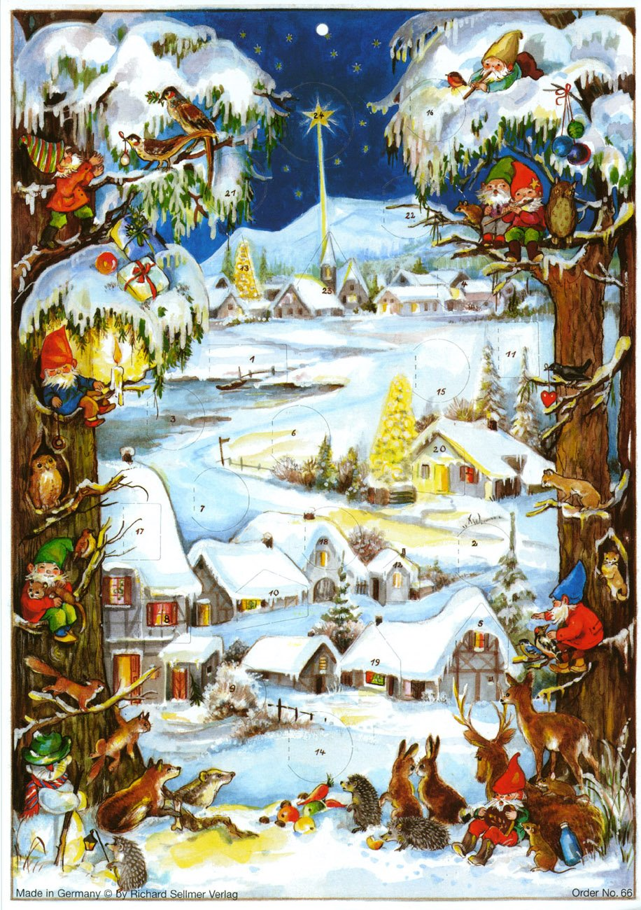 Adventskalender Zwergenweihnacht: Papier-Adventskalender Sellmer Verlag Richard Sellmer Verlag 66 Weihnachten