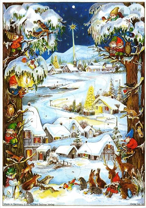 2 opinioni per Sellmer- Calendario dell'Avvento con nani e villaggio innevato