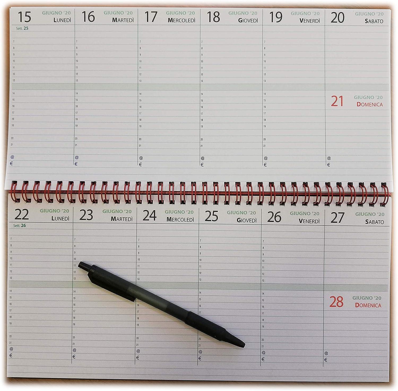 Planificador semanal de mesa 18 meses 2018 2019 30x14cm.: Amazon ...