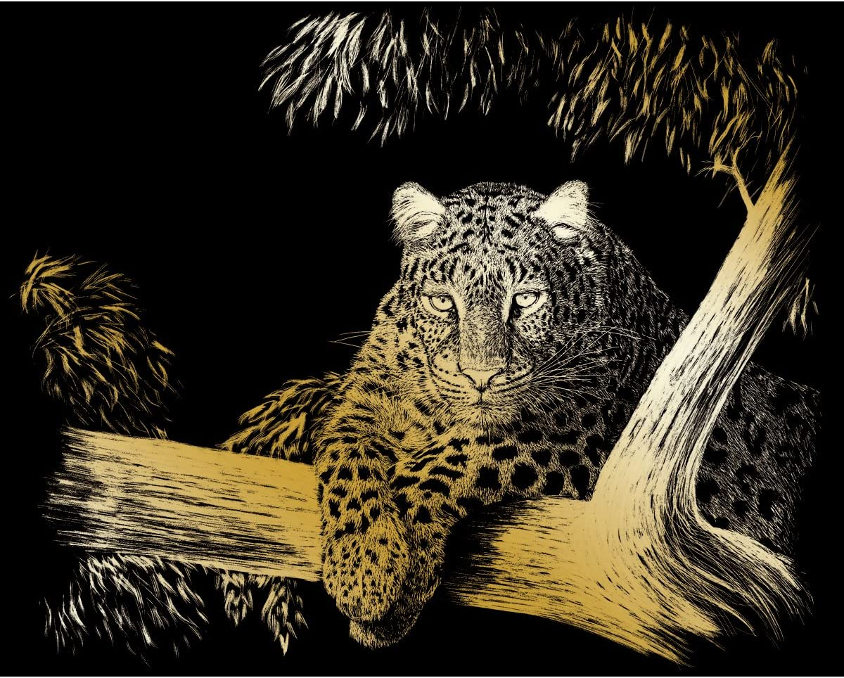 8-Inch by 10-Inch Spotted ROYAL BRUSH Gold Foil Engraving Art Kit