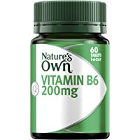 Nature's Own Vitamin B6 200mg - Aids RBC and Haemoglobin Formation - Relieves PMS Symptoms - Good for Pregnancy