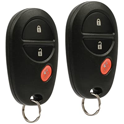 Key Fob Keyless Entry Remote fits Toyota Tacoma Tundra Sienna Sequoia Highlander (GQ43VT20T), Set of 2: Automotive