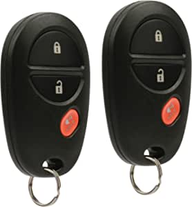 Key Fob Keyless Entry Remote fits Toyota Tacoma Tundra Sienna Sequoia Highlander (GQ43VT20T), Set of 2