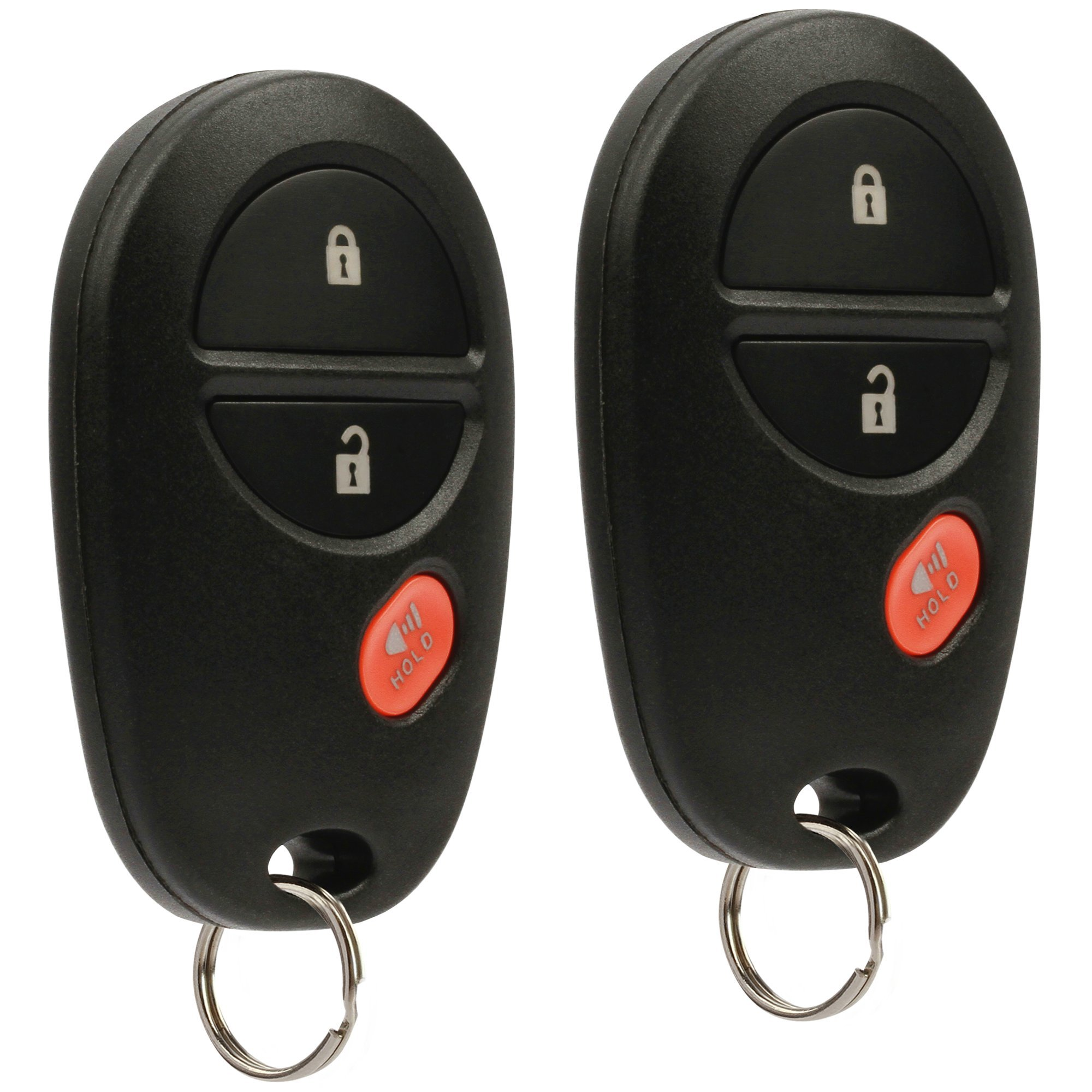 Key Fob Keyless Entry Remote fits Toyota Tacoma Tundra Sienna Sequoia Highlander (GQ43VT20T), Set of 2 by USARemote