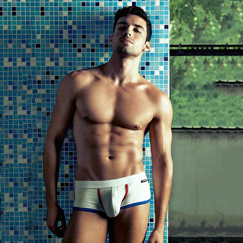Tuopuda Boxer Uomo Cotone Pacco da 4 Pantaloncini Mutande Underwear Boxershorts