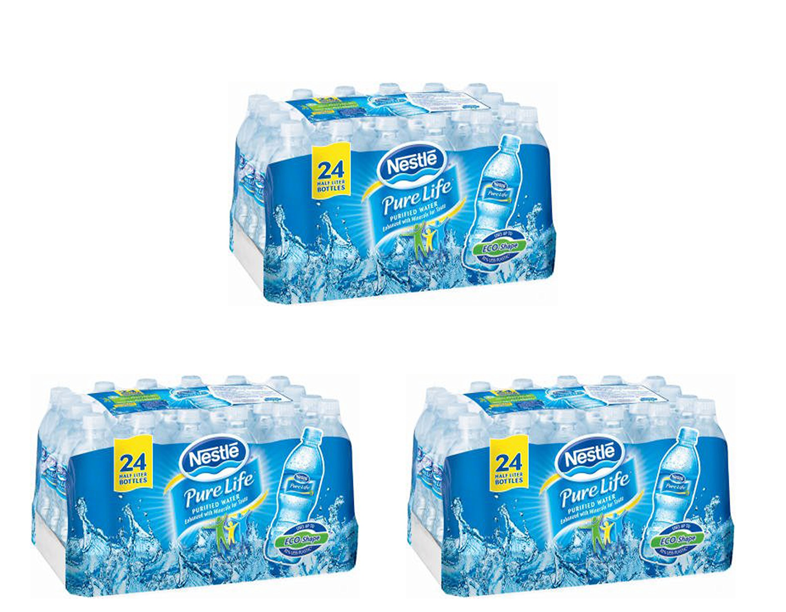 Nestle Waters North America 101264 ''Nestle Pure Life'' Purified Water 16.9 Oz (Pack of 72)