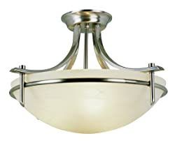 "Trans Globe Lighting 8172 BN Indoor  Vitalian 21.5"" Semiflush, Brushed Nickel"
