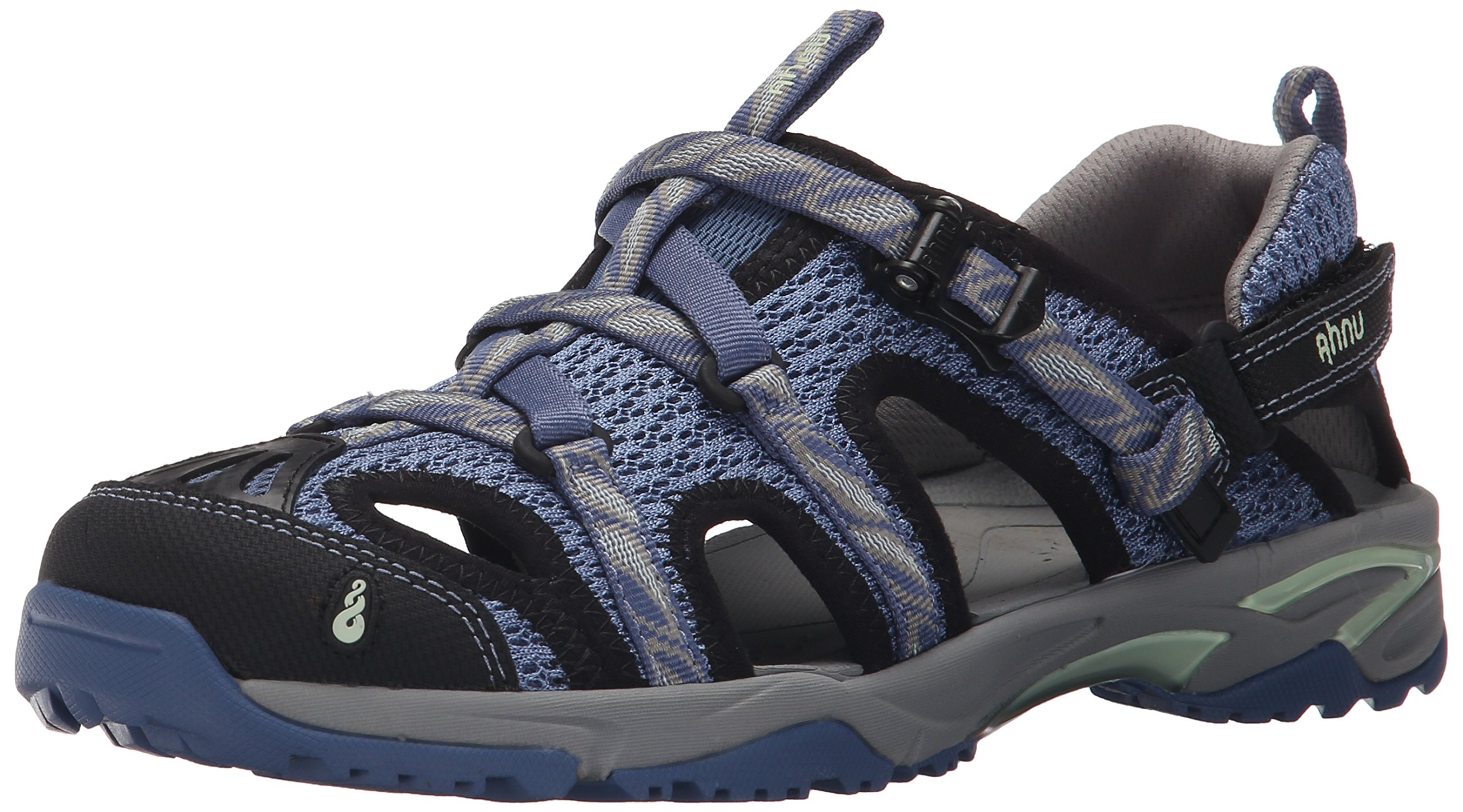 Ahnu Women's Tilden V Sport Sandal, Leaf Regatta Blue, 7 M US by Ahnu