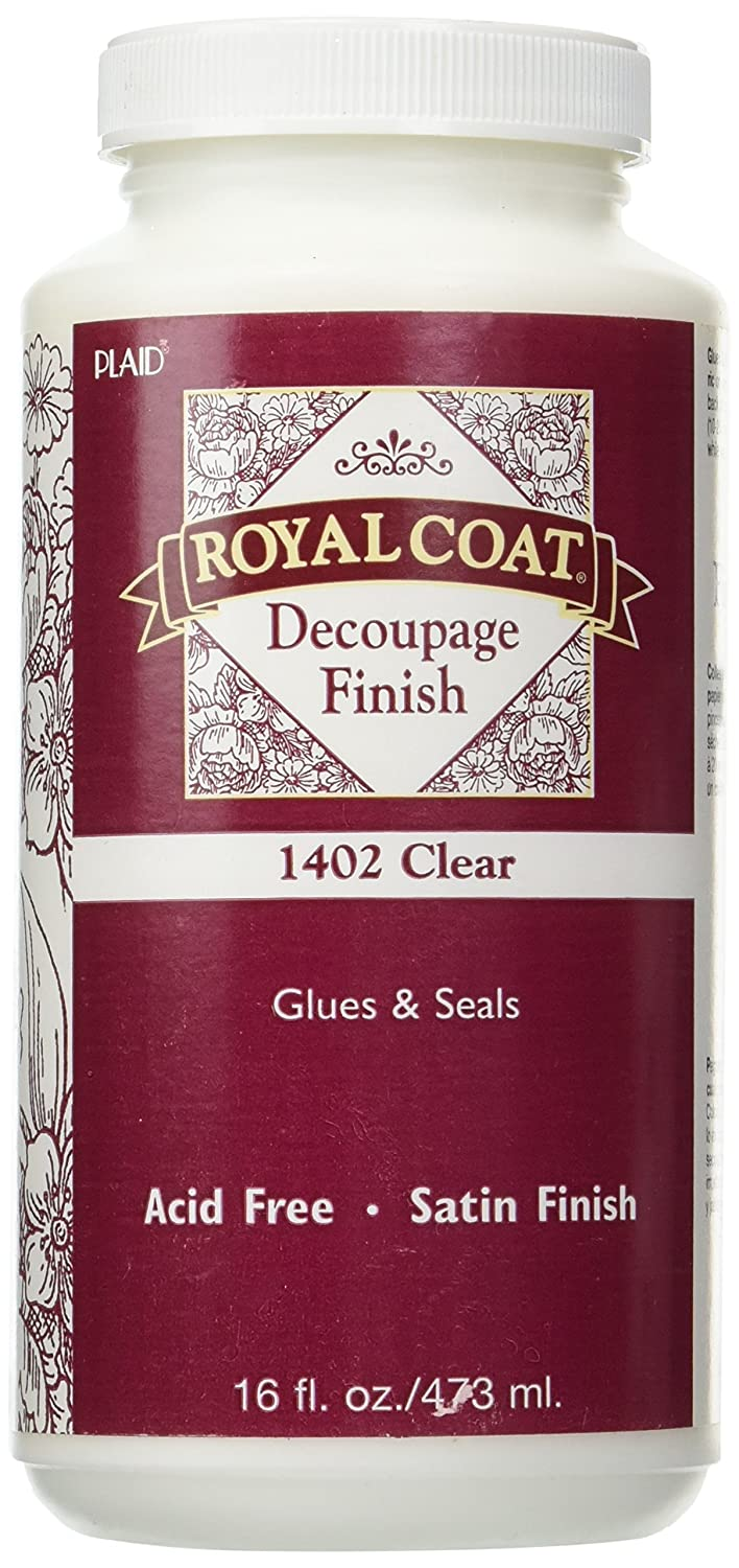 Plaid Royal Coat Decoupage (16-Ounce), 1402 Clear Satin Finish Plaid Inc