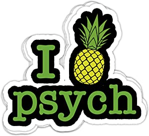 macknessfr Mens Psych Pineapple - 4x3 Vinyl Stickers, Laptop Decal, Water Bottle Sticker (Set of 3)