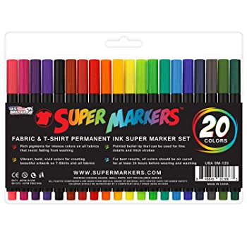 US Art Supply Super Markers Fabric & T-Shirt Marker
