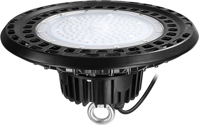 Details about  /8Pack UFO LED High Bay Light 50W Watt Warehouse Shop Garage Lamp Fixture 6500K